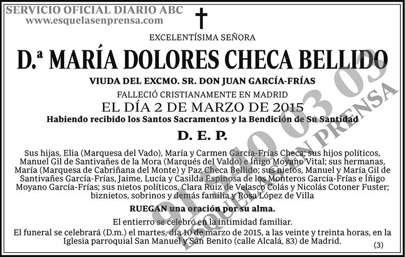 María Dolores Checa Bellido
